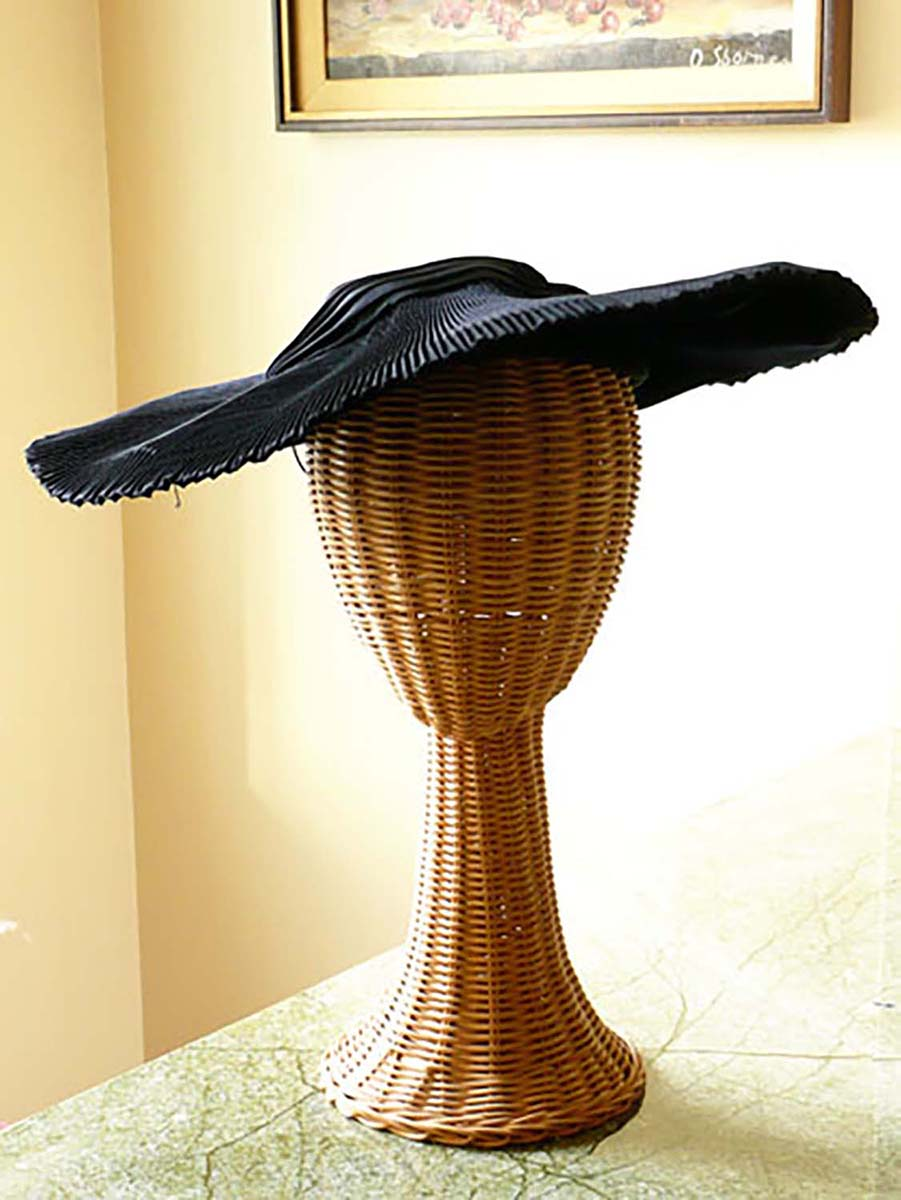 1950s navy picture hat