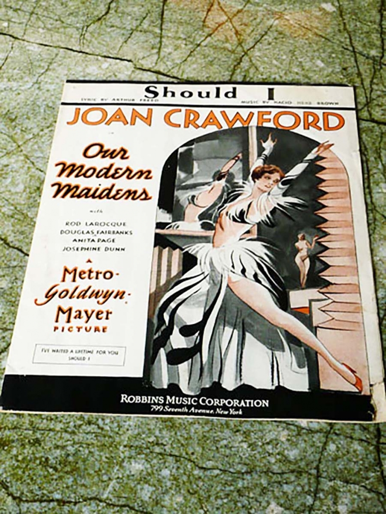 Joan Crawford sheet music