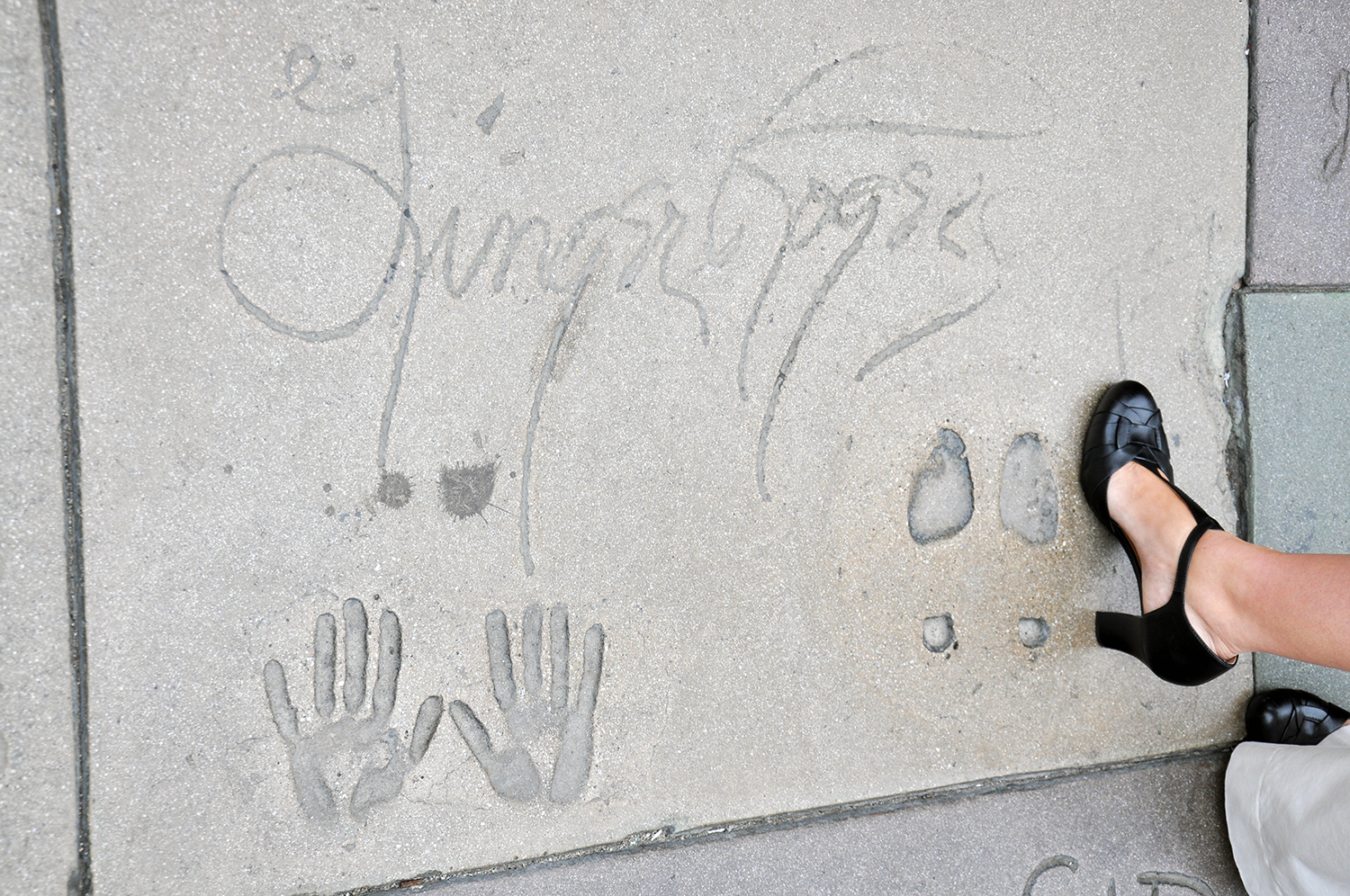 Grauman's footprints Ginger Rogers
