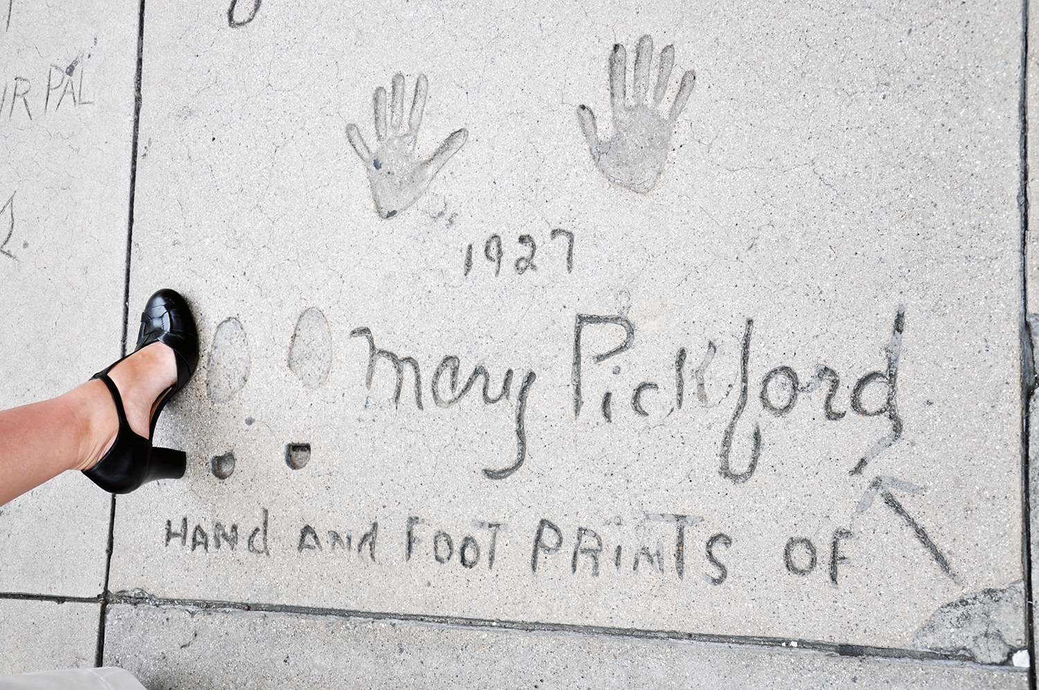 Grauman's footprints Mary Pickford