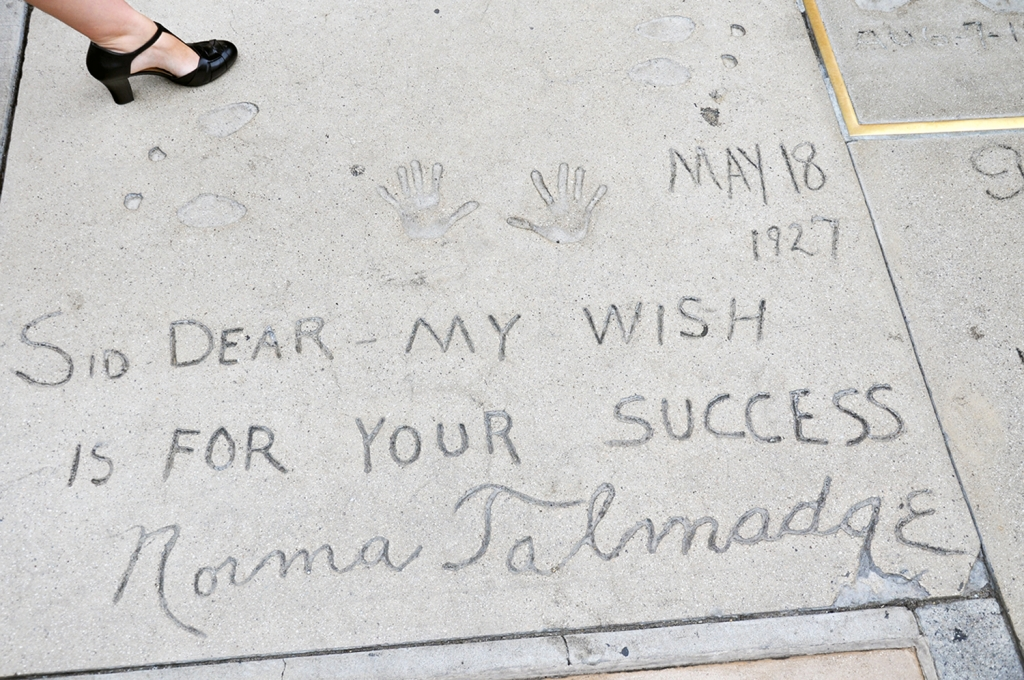 Grauman's footprints Norma Talmadge