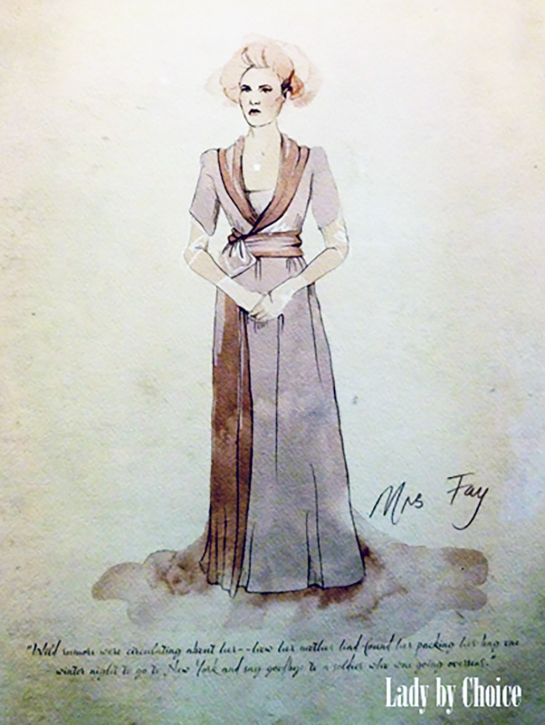 Gatsby costume illustration