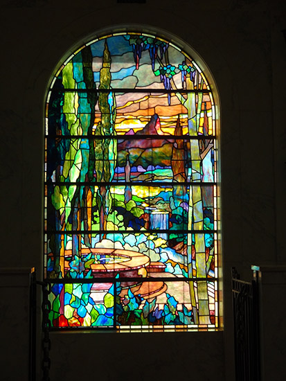 Hollywood Forever stained glass