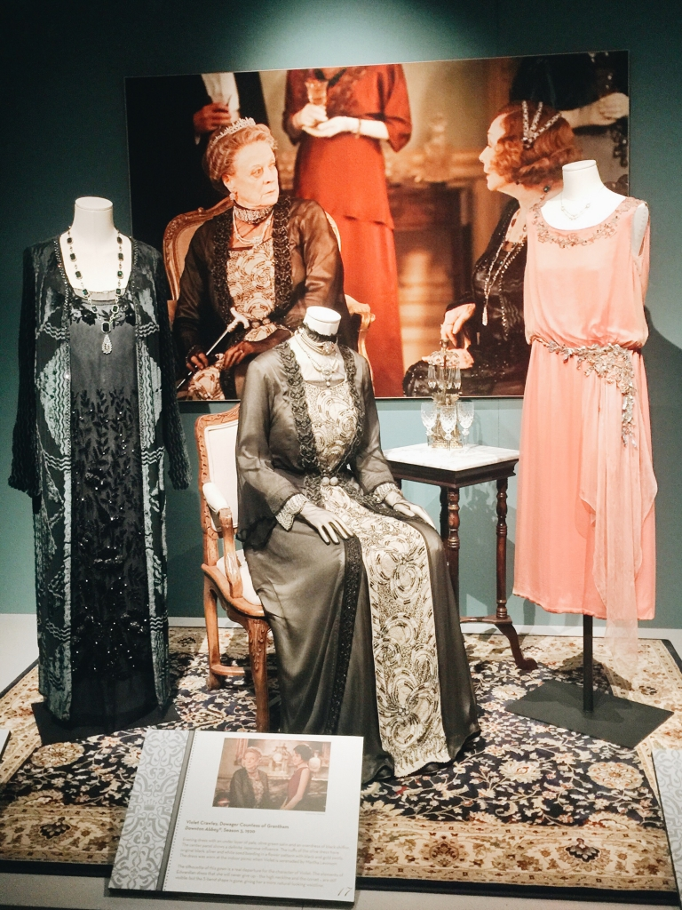 Gowns from Dressing Downton exhibit at Lady by Choice blog
